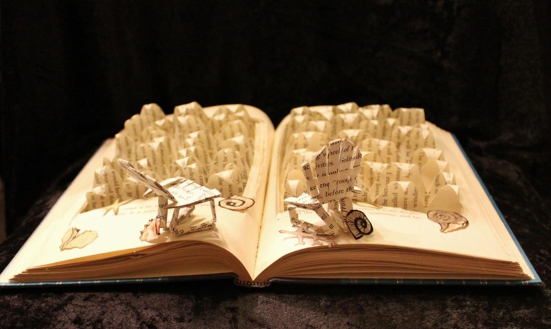 Kitap sayfalarından tasarımlar