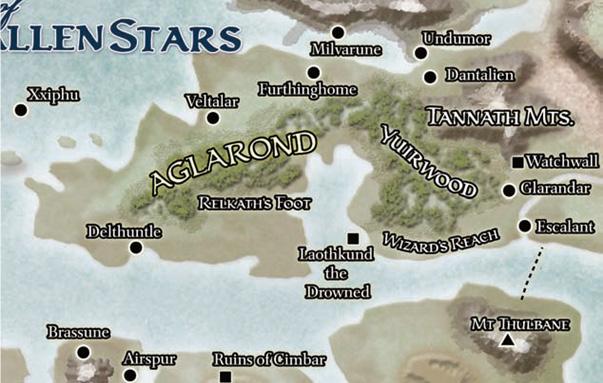 Aglarond Haritası