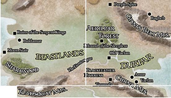 Beastlands Haritası