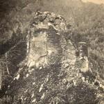Poenari Şatosu'nun 1905'te çekilmiş bir fotoğrafı