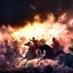 Theodor Aman'ın fırçasından Drakula'nın meşhur Gece Baskını. 19.yy'da yapılmış.