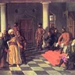 Theodor Aman'dan Vlad the Impaler and the Turkish Envoys-Türk elçilerinin sarıklarının çivilenmesi