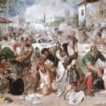 Theodor_Aman'ın fırçasından, Vlad Tepeş'in ziyafet düzenleyip yakalattığı boyarlar, 19. yy