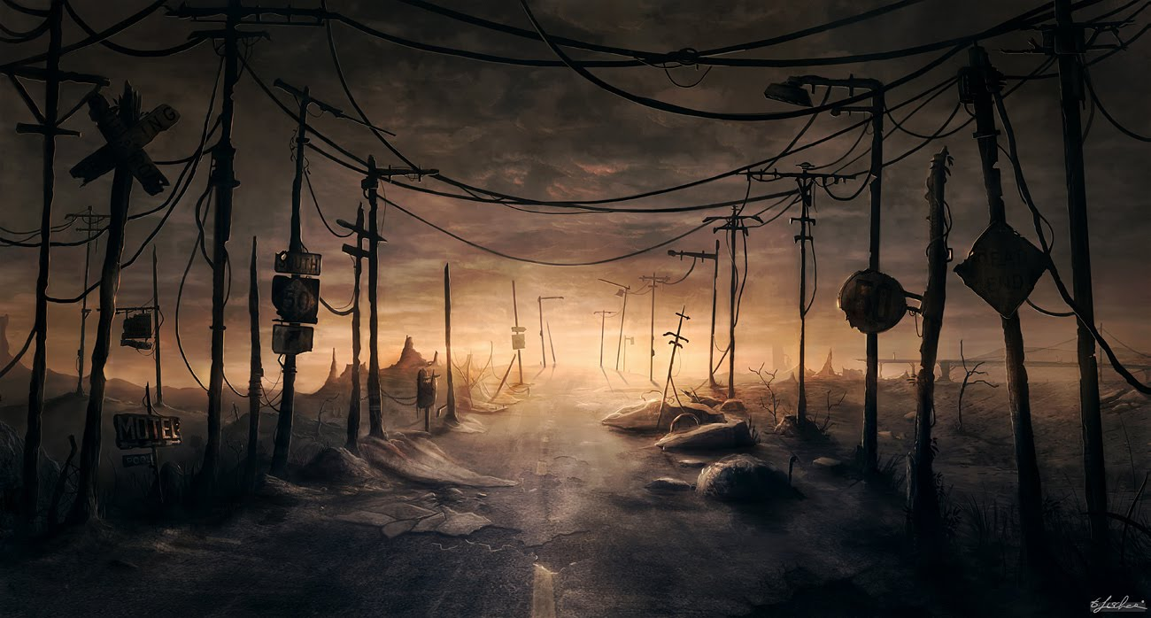 post-apocalyptic-lost-road