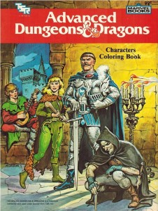 Advanced Dungeons & Dragons Characters Coloring Book (1983)