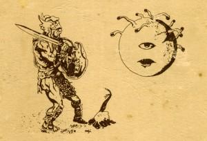 Greyhawk Supplement I kitabında karşılaştığımız ilk Beholder çizimi.