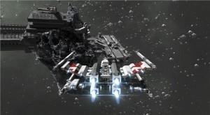 Space Engineers oyuncusunun yaptığı X-Wing