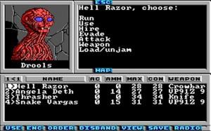 1988 yılında çıkan Wasteland oyunundan bir görüntü