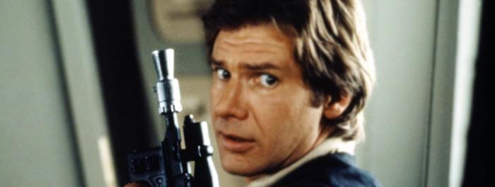 Han Solo blaster banner