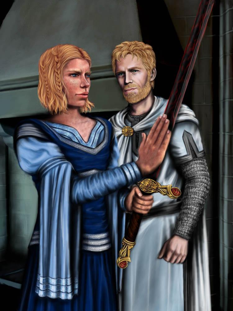 Brienne - Jaime - Blade of Valyrian steel