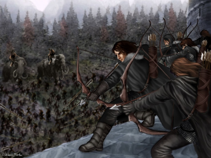Night Watch fighting for Castle Black