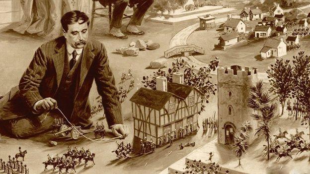 H.G. Wells, savaş oyunları oynarken