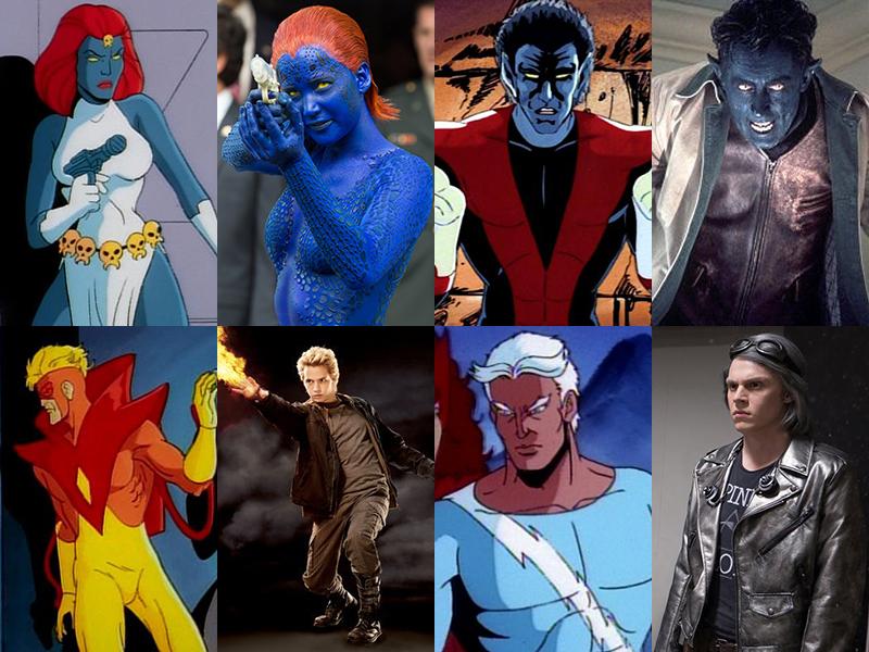 X-Men Karakterleri - Çizgi Film vs. Film - FRPNET X Men Characters