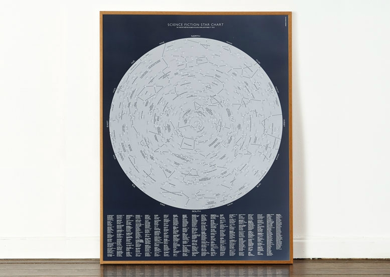 Dorothy_0054B SciFi Star Chart Open Edition_Frame