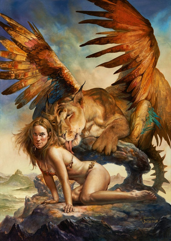 Julie Bell and Boris Vallejo - Jeannie's Kitten