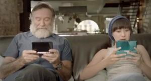 Robin Williams kızı Zelda ile birlikte.