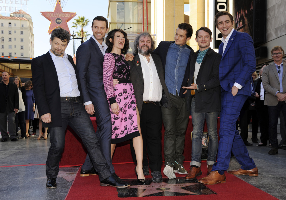 AP PETER JACKSON HONORED WITH A STAR ON THE HOLLYWOOD WALK OF FAME A ENT USA CA