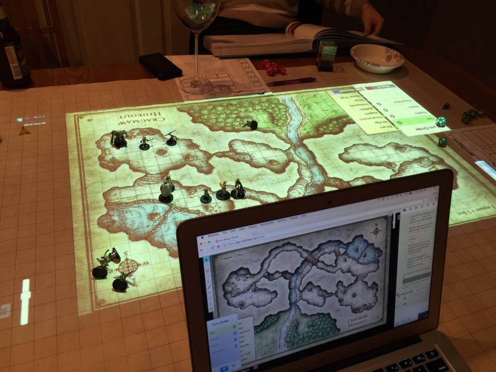 2 - Laptop powering the digital mat