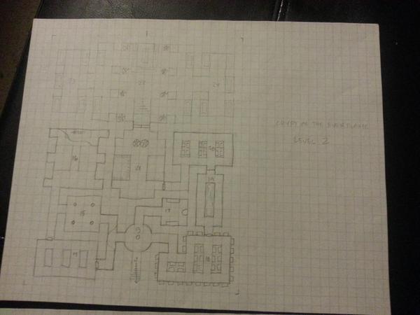 Crypt of the Everflame haritasının ikinci katı