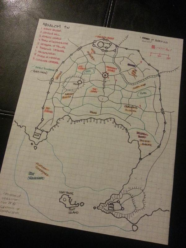 Absalom'un ilk haritası