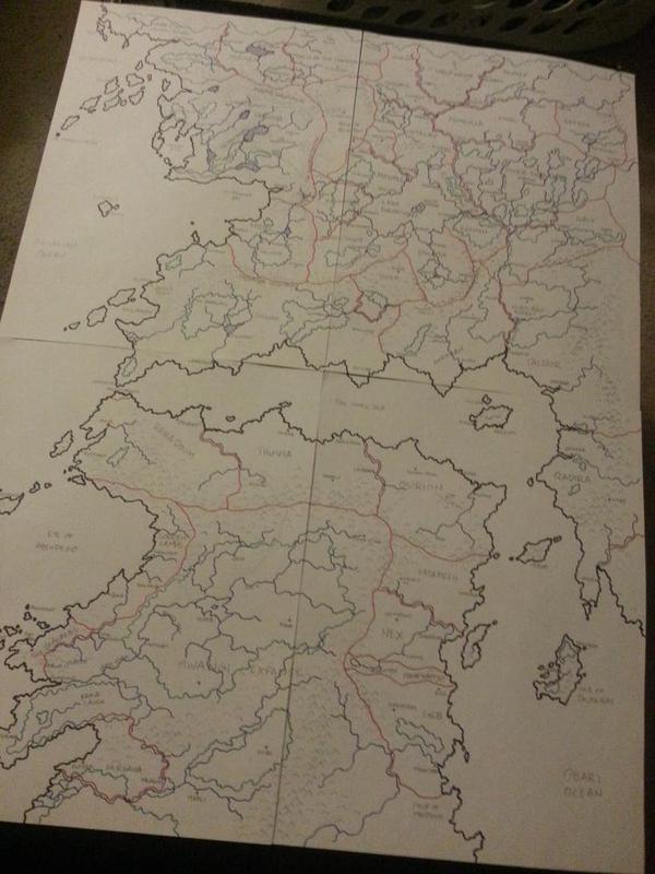 Golarion haritası