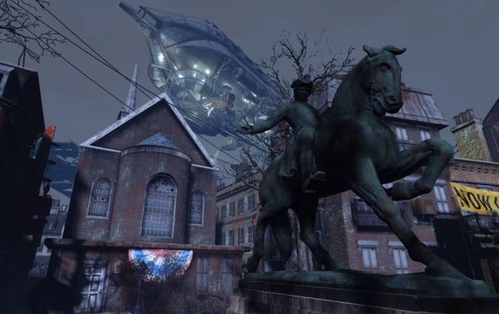 Paul Revere heykeli ve Eski Kuzey Kilisesi
