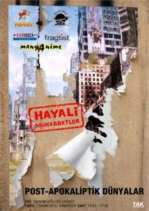TAK 7 Kasım - Hayali Muhabbetler - Post-Apokaliptik-Dünyalar - poster