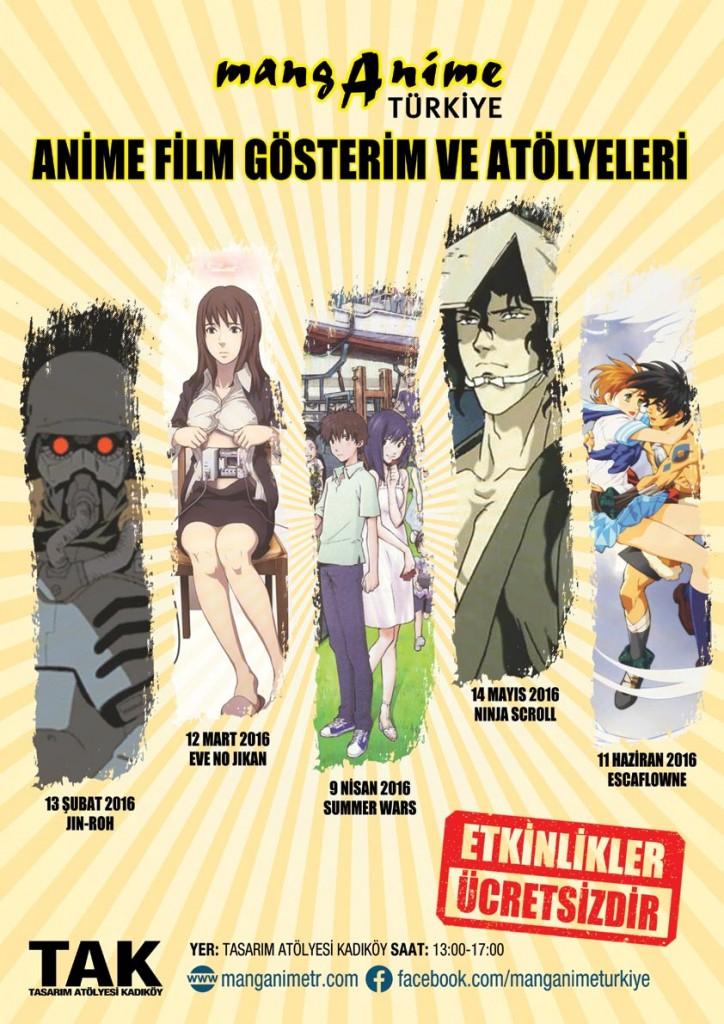 mangAnime Türkiye - Anime Gösterim ve Atölye - etkinlik afis