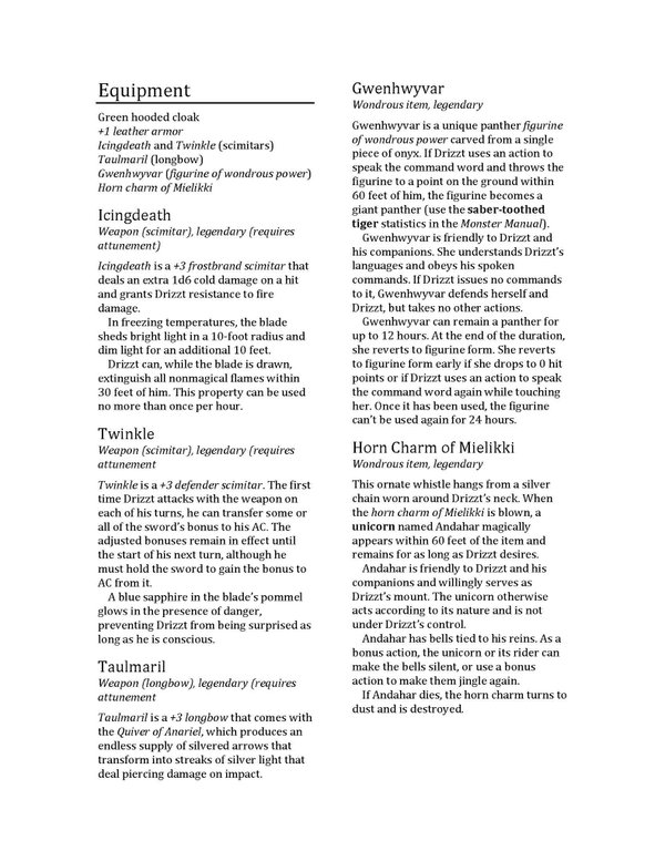 drizzt-karakter-kagidi-5e-2