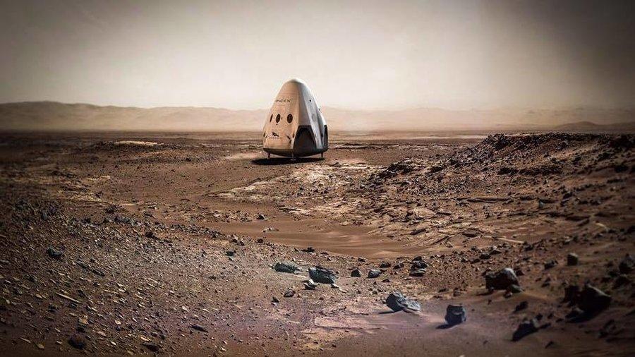 spacex-mars-resim