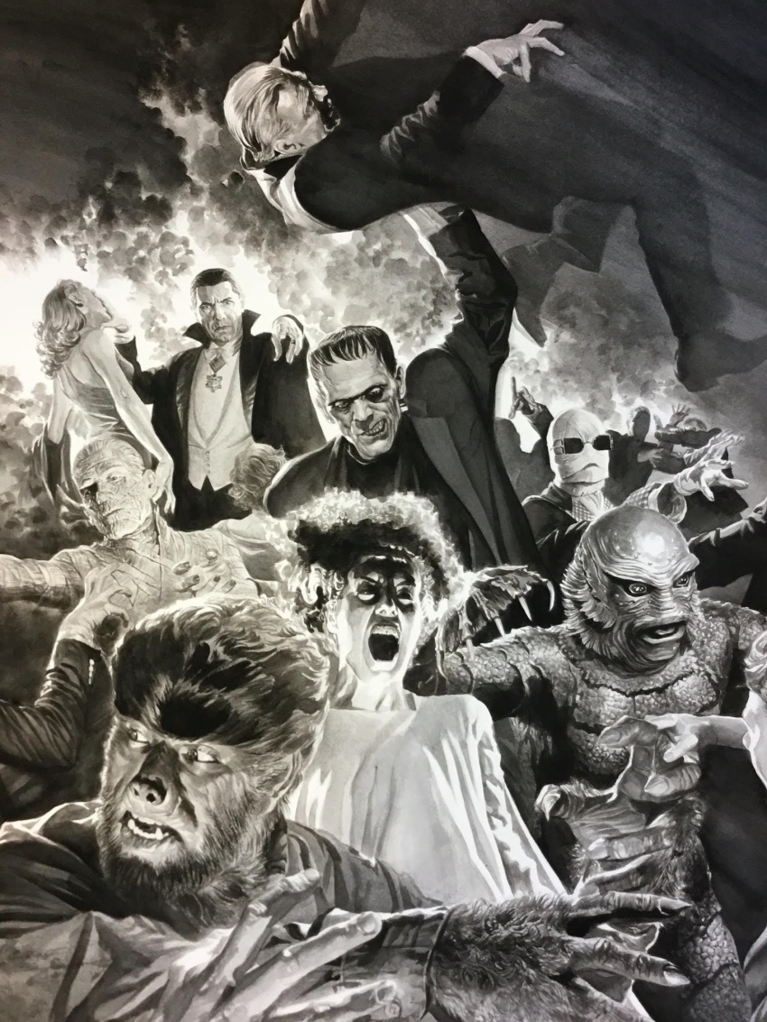 alex-ross-universal-korku-canavarlari-monster-mash