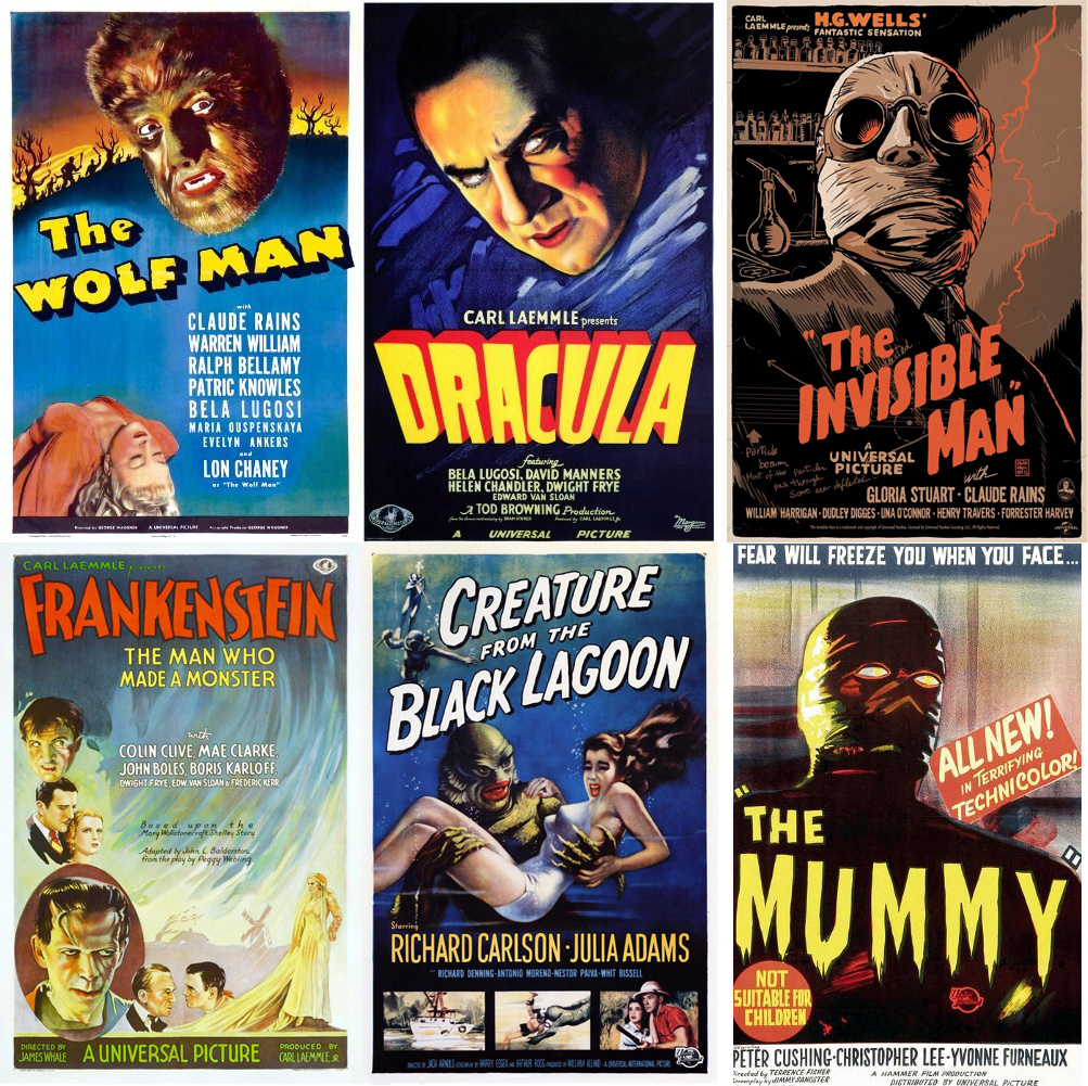 korku-canavarlari-the-mummy-wolf-man-frankenstein-dracula-black-lagoon-invisible-man