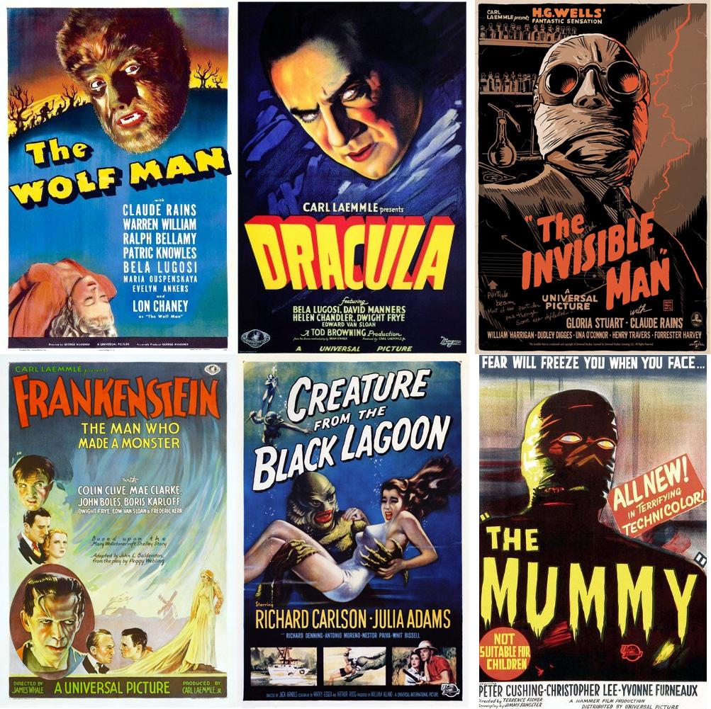 korku-canavarlari-the-mummy-wolf-man-frankenstein-dracula-black-lagoon-invisible-man
