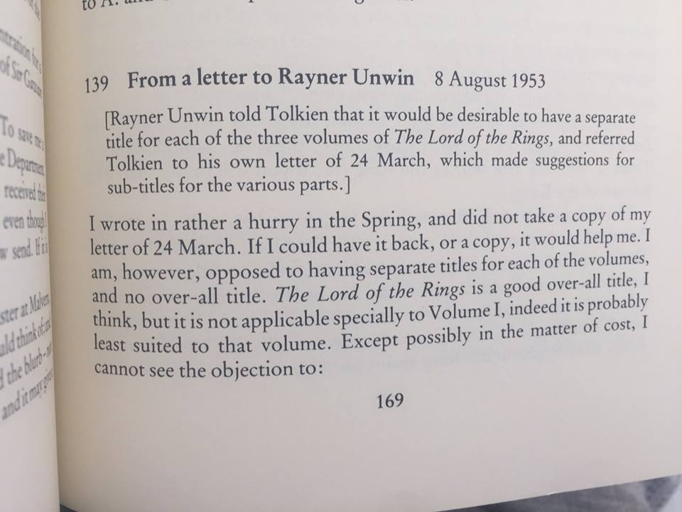 J.R.R. Tolkien'in Yüzüklerin Efendisi Kitapları İçin Düşündüğü İsimler
